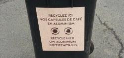 Capsules de café en aluminium acceptées au Recyparc