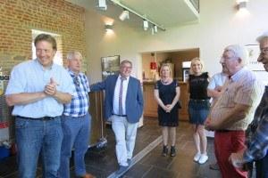 Le collège échevinal visite brasserie artisanale locale des Hostieux Moines de l'abbaye de Villers.